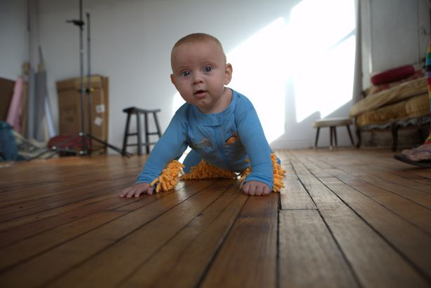 Floor Cleaning Baby Grow